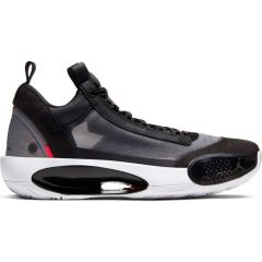 Air Jordan XXXIV Low Black/Metallic Silver-White-Red Orbit