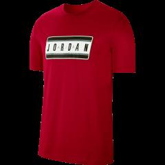 Jordan Jumpman Sticker T Shirt Red